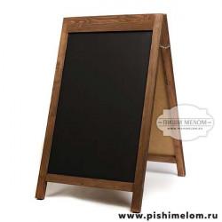 Меловой деревянный штендер Денали, 55х85х110