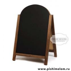 Меловой деревянный штендер Винсон, 55х85х100