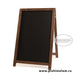 Меловой деревянный штендер Олимп, 55х85х100