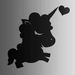 Единорожка Кудряшка • меловая • 40х50 см