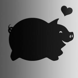Свинка • меловая • 40х60 см