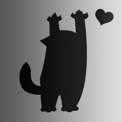 Кот Царапка • меловая • 40х60 см
