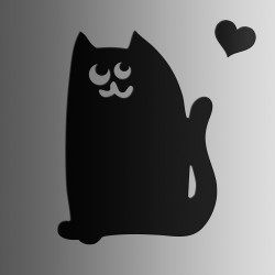 Кот • меловая • 40х55 см