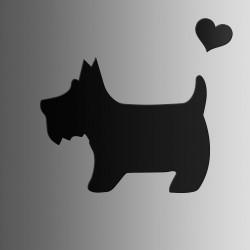 Собака • меловая • 30х40 см