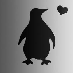 Пингвин • меловая • 40х60 см