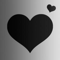 Сердце • меловая • 45х38 см